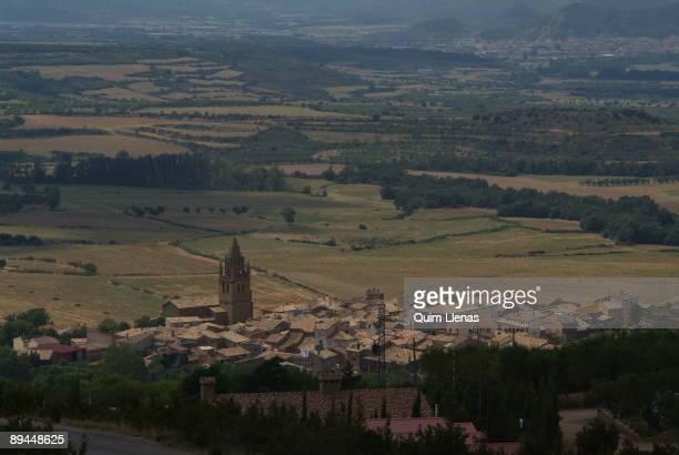 August 19 2008 Loarre Huesca Aragon Spain View of Loarre from its castle