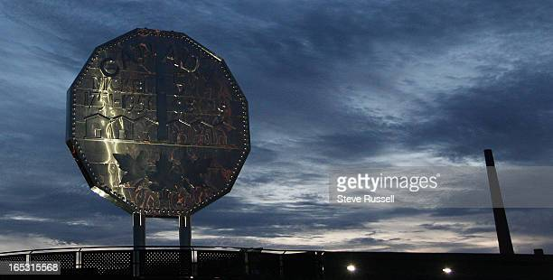 August 19 2009 The skies over the Big Nickel the world's largest coin are emission free as Vale INCO's Superstack the second tallest chimney in the...