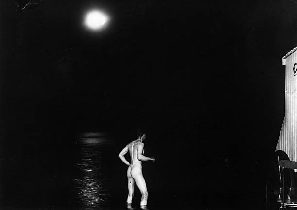 A nude swim by moonlight for a bather in Westcliffe...