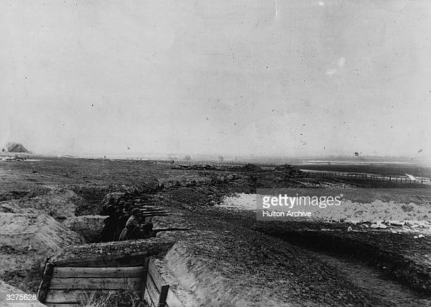 Advance post of German trenches near Tannenberg East Prussia