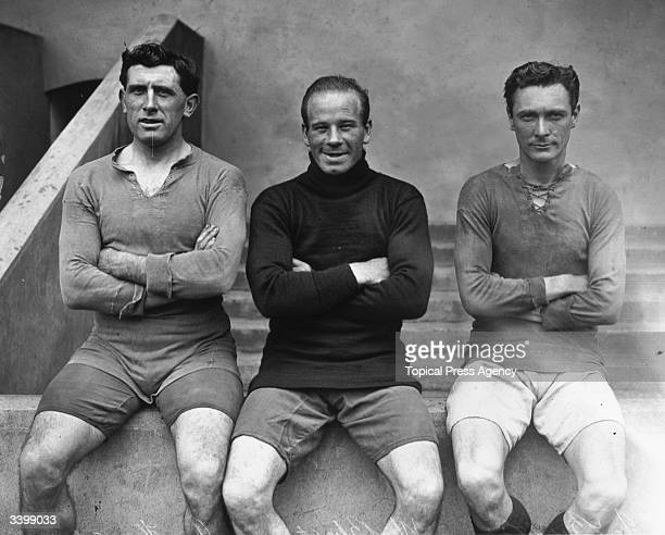 Arsenal footballers, J Butler, W Blyth and A Hutchins.