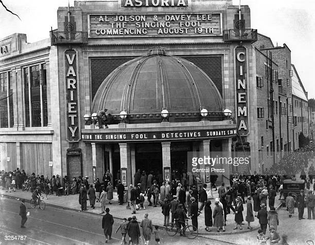 Exterior of the Astoria Cinema Brixton south London