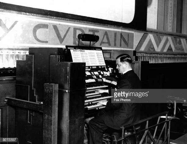 Playing the organ at the Davis Theatre Croydon