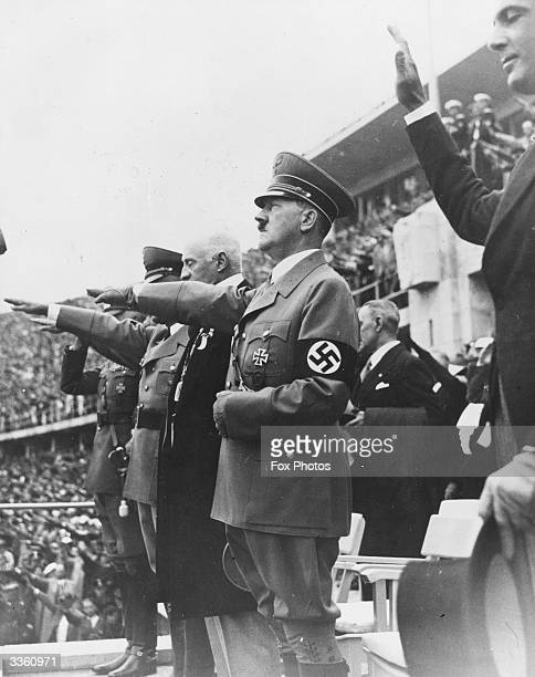 Adolf Hitler at the 1936 Olympic Games which were held in Berlin