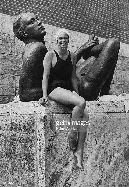 Argentinian swimmer Jeanette Campbell who won a silver medal in the 100 metres freestyle at the Berlin Olympics.