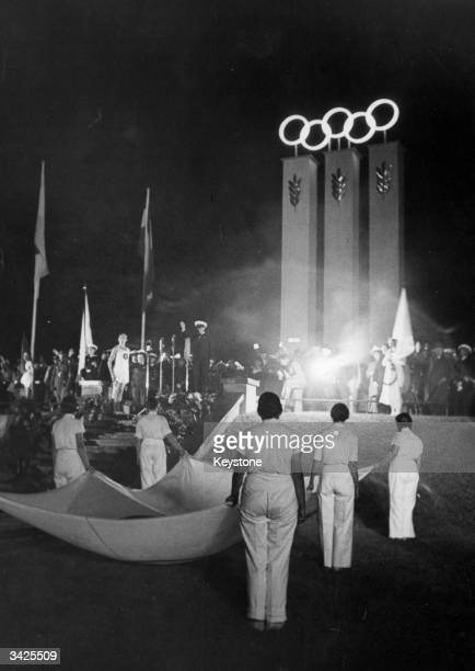 The Opening Ceremony of the 1936 Olympics in Berlin