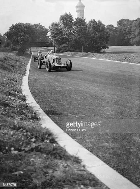 Prince Birabongse 'Bira' Bhanudej Bhanubandh of Thailand racing at Crystal Palace He won the 1937 London Grand Prix in his Romulus ERA R2B