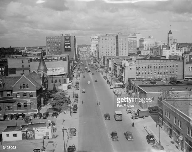 Douglas Avenue, the main street of the city of Wichita in Kansas.