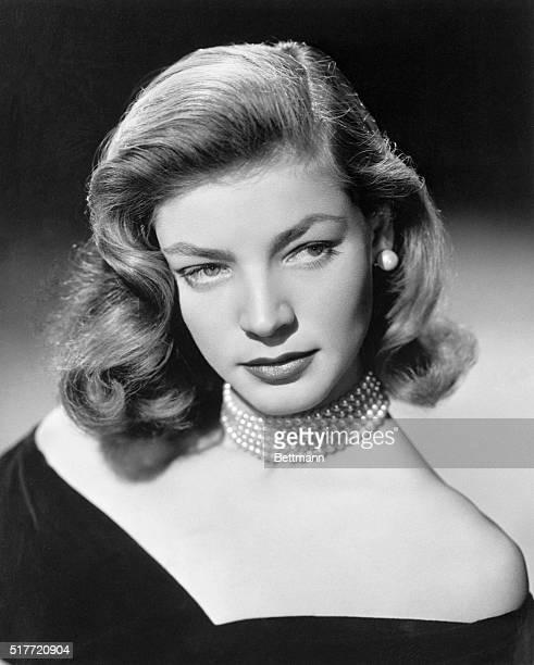 August, 1948 Lauren Bacall in portrait.
