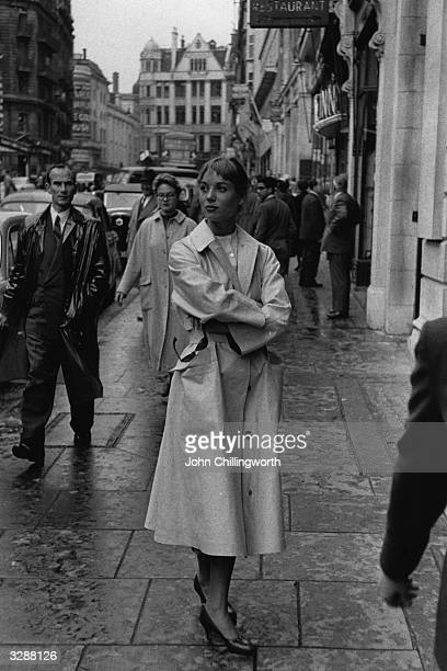 Italian model and actress Elsa Martinelli during a visit to London Original Publication Picture Post 9556 Elsa Decided British Is Best pub 1956