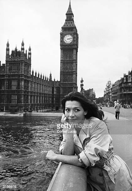 French actress and singer Juliette Greco in London