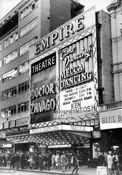 The Empire cinema and the Mecca Ballroom at Leicester Square London
