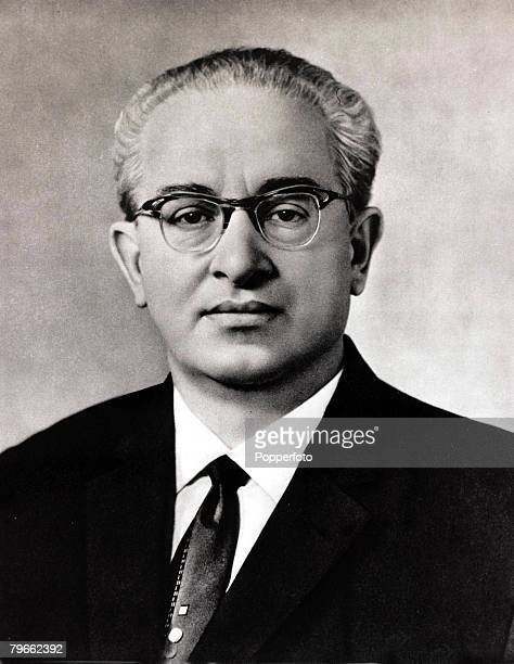 August 1967 A portrait of Yuri Andropov the Chief of the Russian KGB and later in life Russian leader