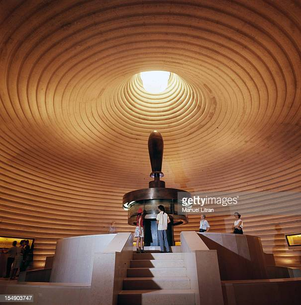 inside the Israel Museum in Jerusalem that contains the Dead Sea Scrolls