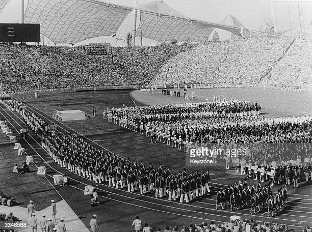 The opening ceremony at the West German Olympics in Munich