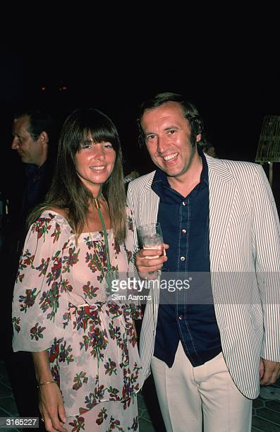 British broadcasting personality David Frost in Monte Carlo with Caroline Cushing