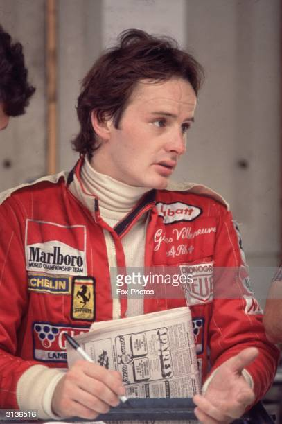 Canadian grand prix driver Gilles Villeneuve at the British grand prix