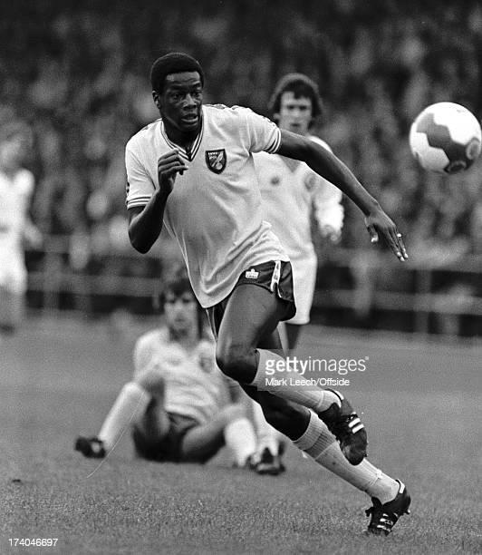 22 August 1979 Football League Div 1 Norwich City v Leeds United Norwich striker Justin Fashanu