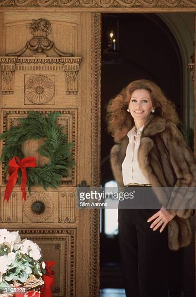 Philanthropist Ann Getty the wife of millionaire oil tycoon Gordon Getty at her home in Pacific Heights San Francisco