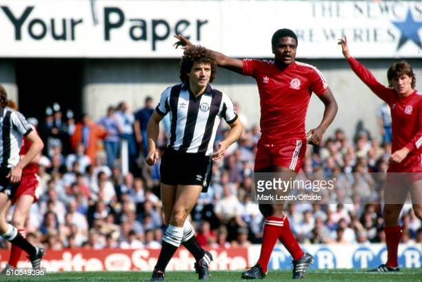 August 1982 - Football League Division One - Newcastle United v Queens Park Rangers - Kevin Keegan of Newcastle and Bob Hazell of Queens Park Rangers.