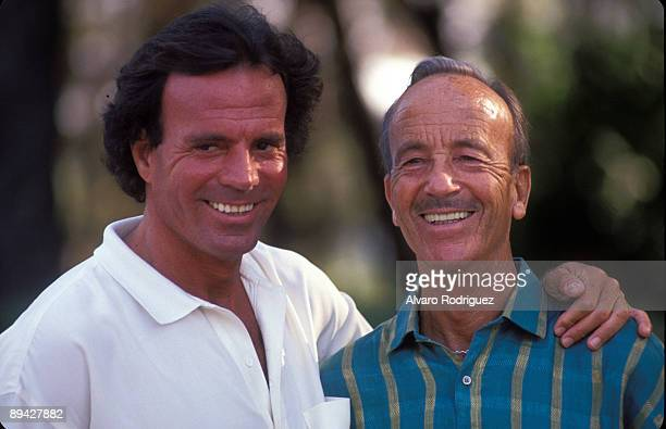 August 1988 Madrid Spain The singer Julio Iglesias with his father Julio Iglesias Puga