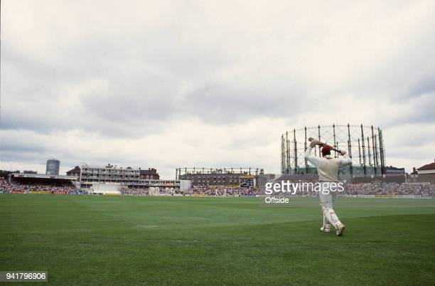 August 1991 Kennington Oval, Cricket Test Match - England v West Indies - Viv Richards walks out to bat for his final test match innings