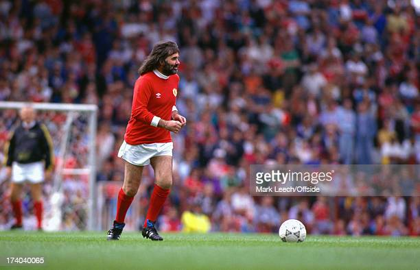 11 August 1991 Manchester United FC former manager Sir Matt Busby testimonial match George Best makes a return to Old Trafford
