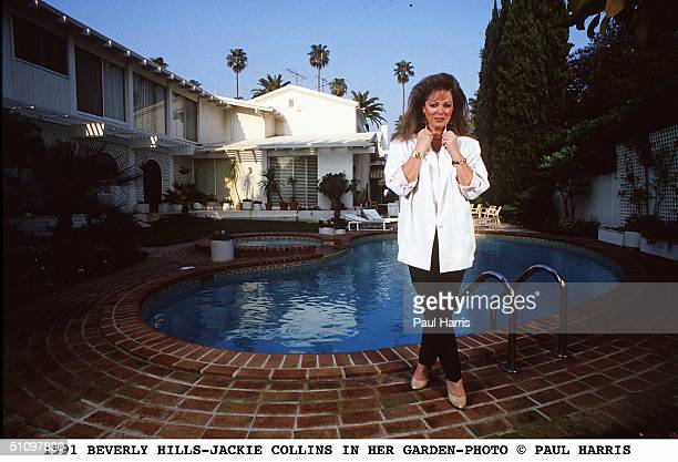 August 1991Beverly HillsFamous Author Jackie Collins In The Garden Of Her Beverly Hills Home