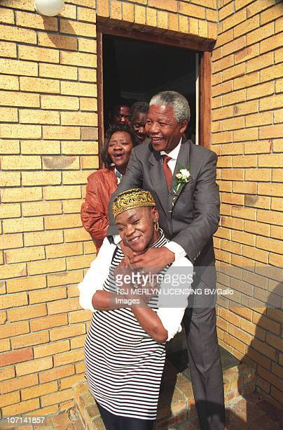 Often referred to as the �Madonna of the Townships� controversial singer Brenda Fassie spends time in her Langa Cape Town home with ANC stalwart and...