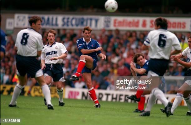 01 August 1993 Premiership Tottenham Hotspur v Chelsea Glenn Hoddle of Chelsea plays a long pass up the pitch