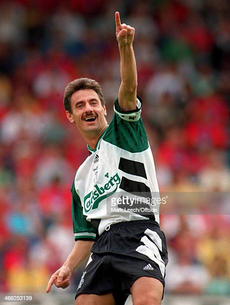 August 1994 FA Premiership Football - Crystal Palace v Liverpool FC, Ian Rush of Liverpool celebrates a goal.