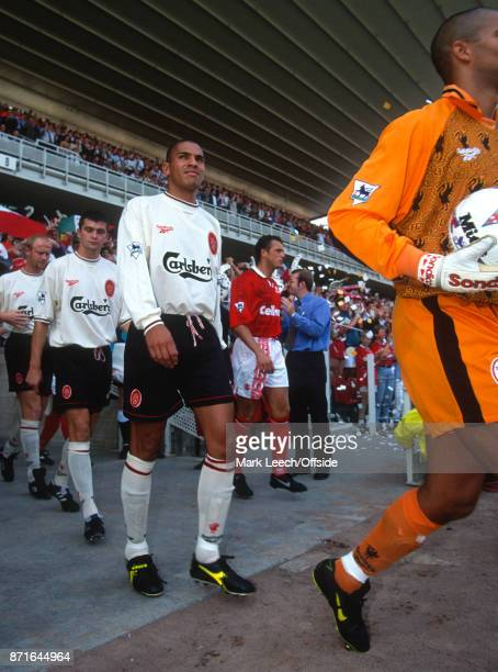 Premier League Football Middlesbrough v Liverpool Stan Collymore of Liverpool comes out of the players tunnel