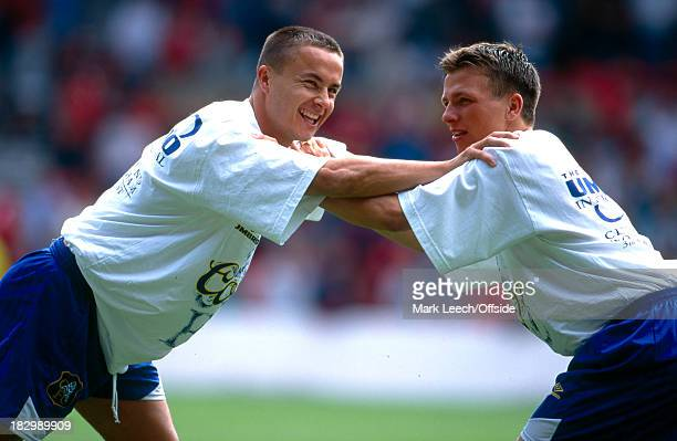 3 August 1996 Umbro Tournament NForest v Chelsea Dennis Wise and Jody Morris of Chelsea warm up before the tournament