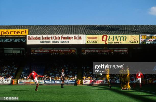 8 August 1998 Norwich Football League Division One Norwich City v Crewe Alexandra A general view of match action at Carrow Road