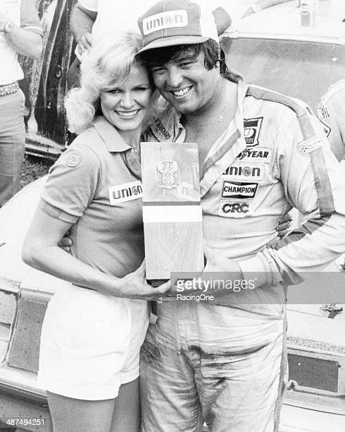 Ron Bouchard in victory lane at Talladega Superspeedway following his win in the Talladega 500 NASCAR Cup race It would be his only career Cup victory
