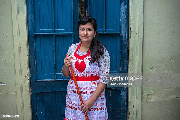 August 2 2015 LIMA PERU Carlita Milagros Sanchez Edquen is a domestic worker who babysits at different homes and is a Member of the SINTRAHOGARP...