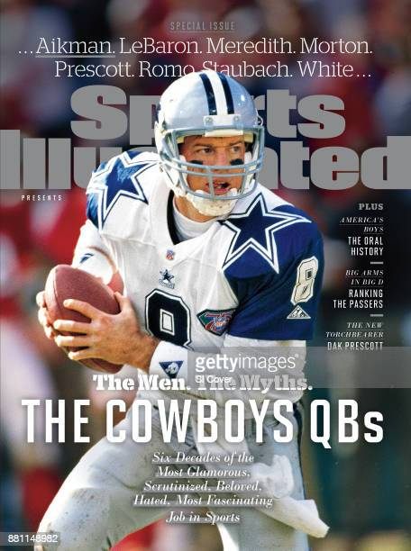 August 20 2017 Sports Illustrated Presents Cover NFC Playoffs Dallas Cowboys QB Troy Aikman in action vs San Francisco 49ers at Candlestick Park San...