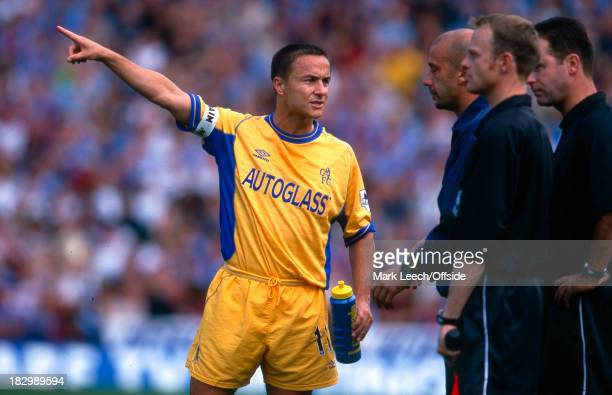 27 August 2000 Premiership Aston Villa v Chelsea Dennis Wise of Chelsea points something out to team mate Gianluca Vialli