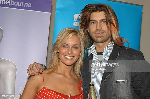 31 August 2003 MONIQUE MAX and ANGUS KENNETT at the Opening Ceremony of the Melbourne Spring Fashion Week at the NY on 2nd in Melbourne Melbourne...