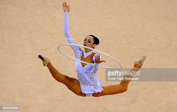 23 August 2008 Beijing Anna Bessonova of Ukranie competes in the individual allaround final of the rhythmic gymnastics event during the 2008 Beijing...