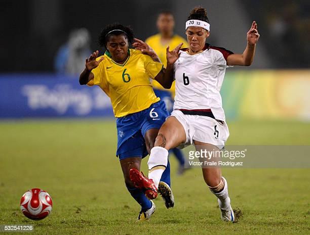 b52feb2fef3 21 August 2008 Beijing China Erika of Brazil and Natasha Kai of the US  fight for