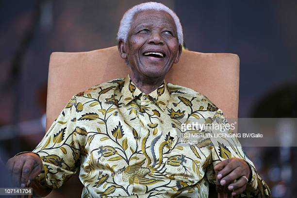 August 2008: Former South African President, anti apartheid activist and Nobel Peace Prize laureate, Nelson Mandela, celebrates his 90th birthday at...