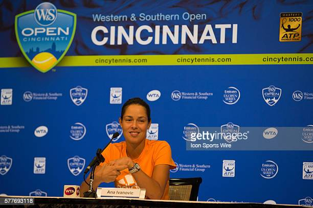 Ana Ivanovic during a post match press conference after her second round win over Christina McHale 64 60 during The Western Southern Open in Mason...