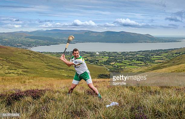 24 August 2014 Brendan Cummins Tipperary competing in the M Donnelly AllIreland Poc Fada Final Annaverna Mountain Ravensdale Cooley Co Louth Picture...