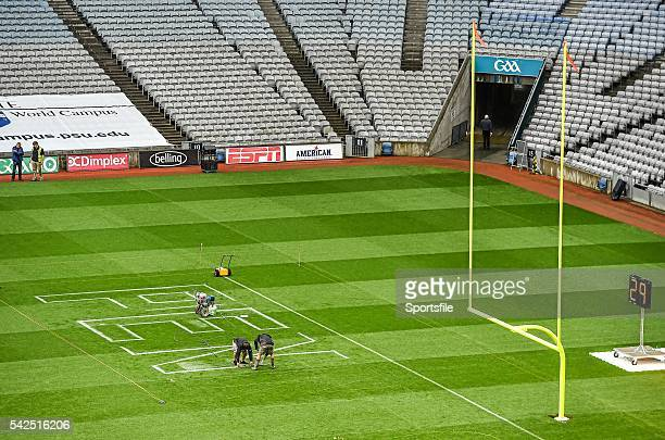 29 August 2014 Croke Park Stadium is prepared ahead of the Croke Park Classic Penn State v University of Central Florida on Saturday Croke Park...