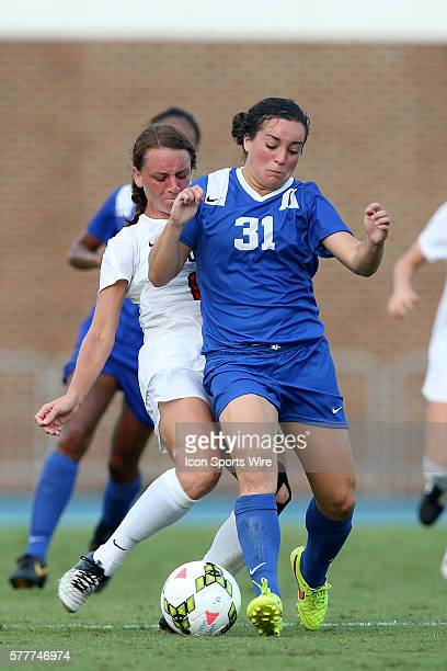 Duke's Christina Gibbons and Ohio State's Kayla Varner The Duke University Blue Devils played The Ohio State University Buckeyes at Fetzer Field in...