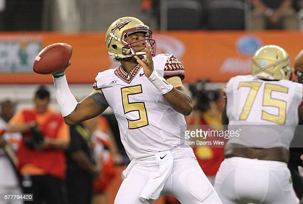 30 August 2014 Florida State Seminoles quarterback Jameis Winston during the Advocare Cowboys Classic college football game between the Florida State...
