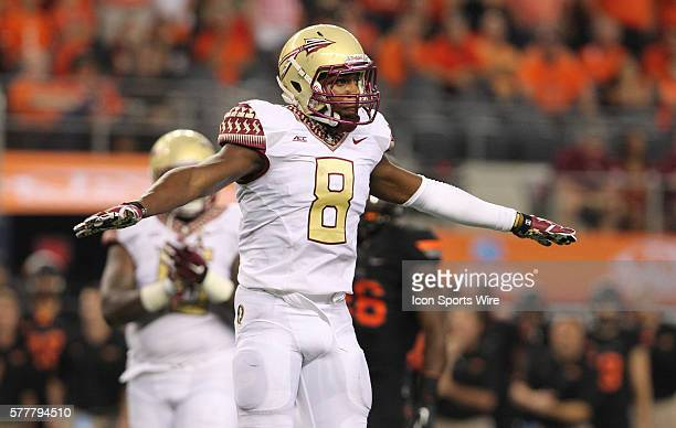 30 August 2014 Florida State Seminoles safety Jalen Ramsey during the Advocare Cowboys Classic college football game between the Florida State...