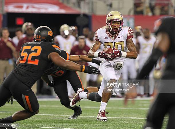 30 August 2014 Florida State Seminoles wide receiver Rashad Greene runs after a catch during the Advocare Cowboys Classic college football game...