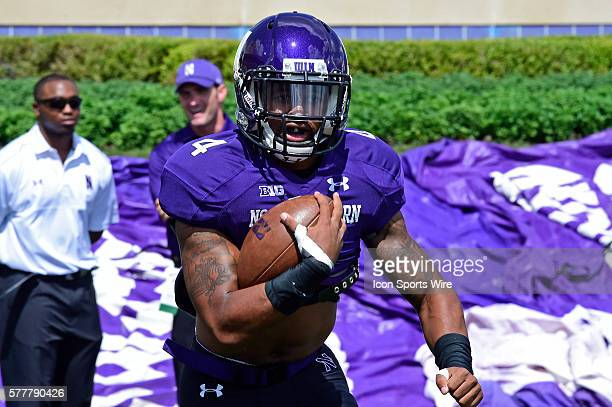 Northwestern Wildcats cornerback Jarrell Williams practicing for an NCAA men's football game showcasing the California Golden Bears and the...